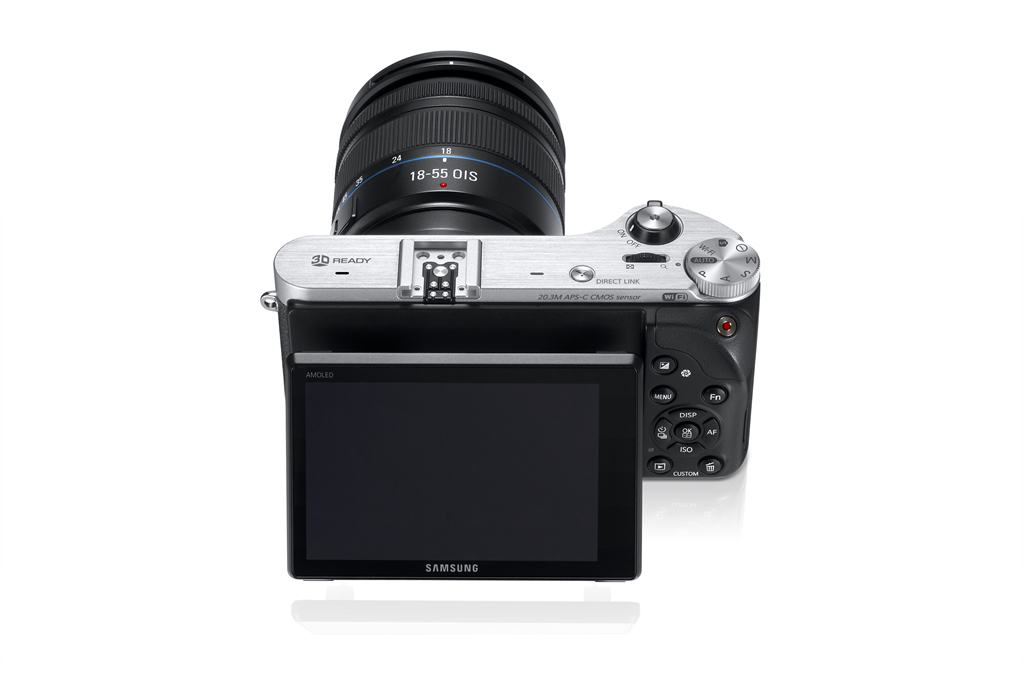 Samsung NX300 - Rear View With Tilting AMOLED Display - Black