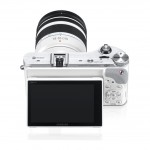 Samsung NX300 - Rear View With Tilting AMOLED Display - White