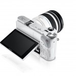 Samsung NX300 Mirrorless Camera - Top View With Tilting AMOLED Display