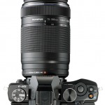 Top View - Olympus M.Zuiko ED 75-300mm f/4.8-6.7 II Zoom Lens & OM-D E-M5 Camera