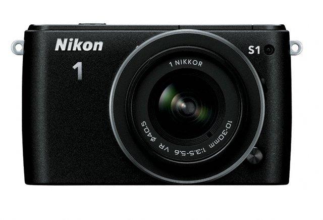 Nikon 1 S1 Mirrorless Camera - Front - Black