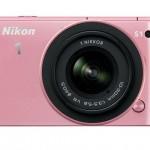 Nikon 1 S1 Mirrorless Camera - Front - Pink