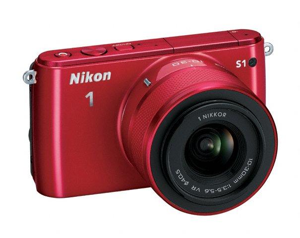 Nikon 1 S1 Mirrorless Camera - Right Front - Red