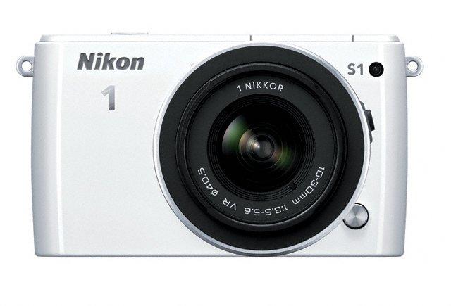 Nikon 1 S1 Mirrorless Camera - Front - White