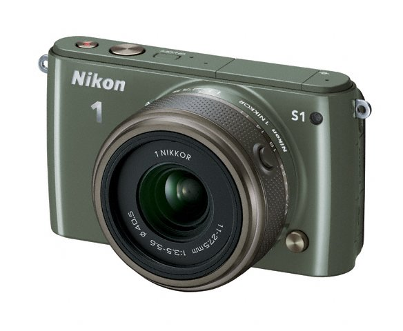 Nikon 1 S1 Mirrorless Camera - Khaki