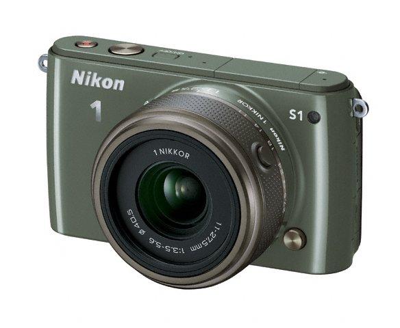 Nikon 1 S1 Mirrorless Camera - Khaki