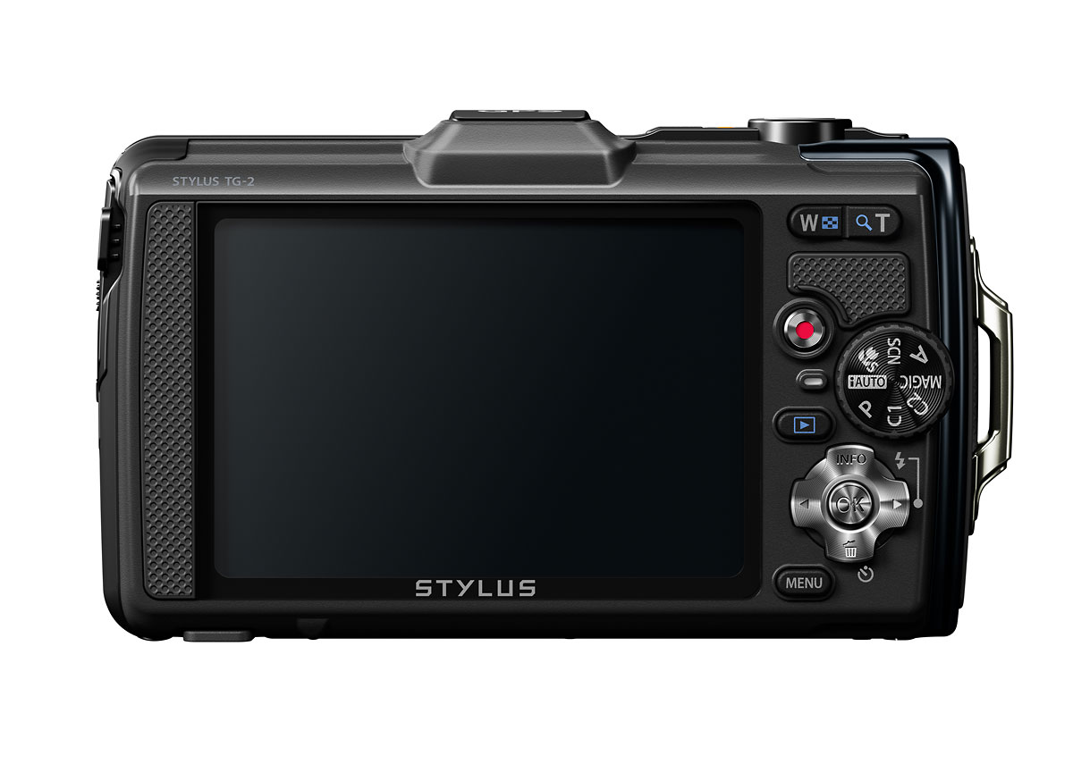 Olympus Stylus Tough TG-2 iHS - Black - Rear