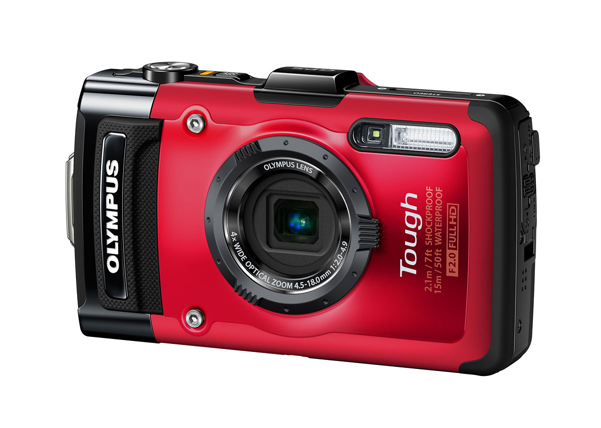 Olympus Stylus Tough TG-2 iHS - Left Front - Red