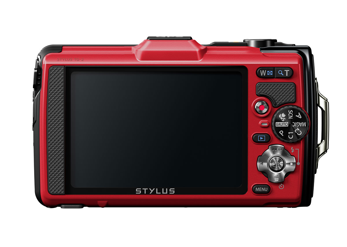 Olympus Stylus Tough TG-2 iHS - Red - Rear