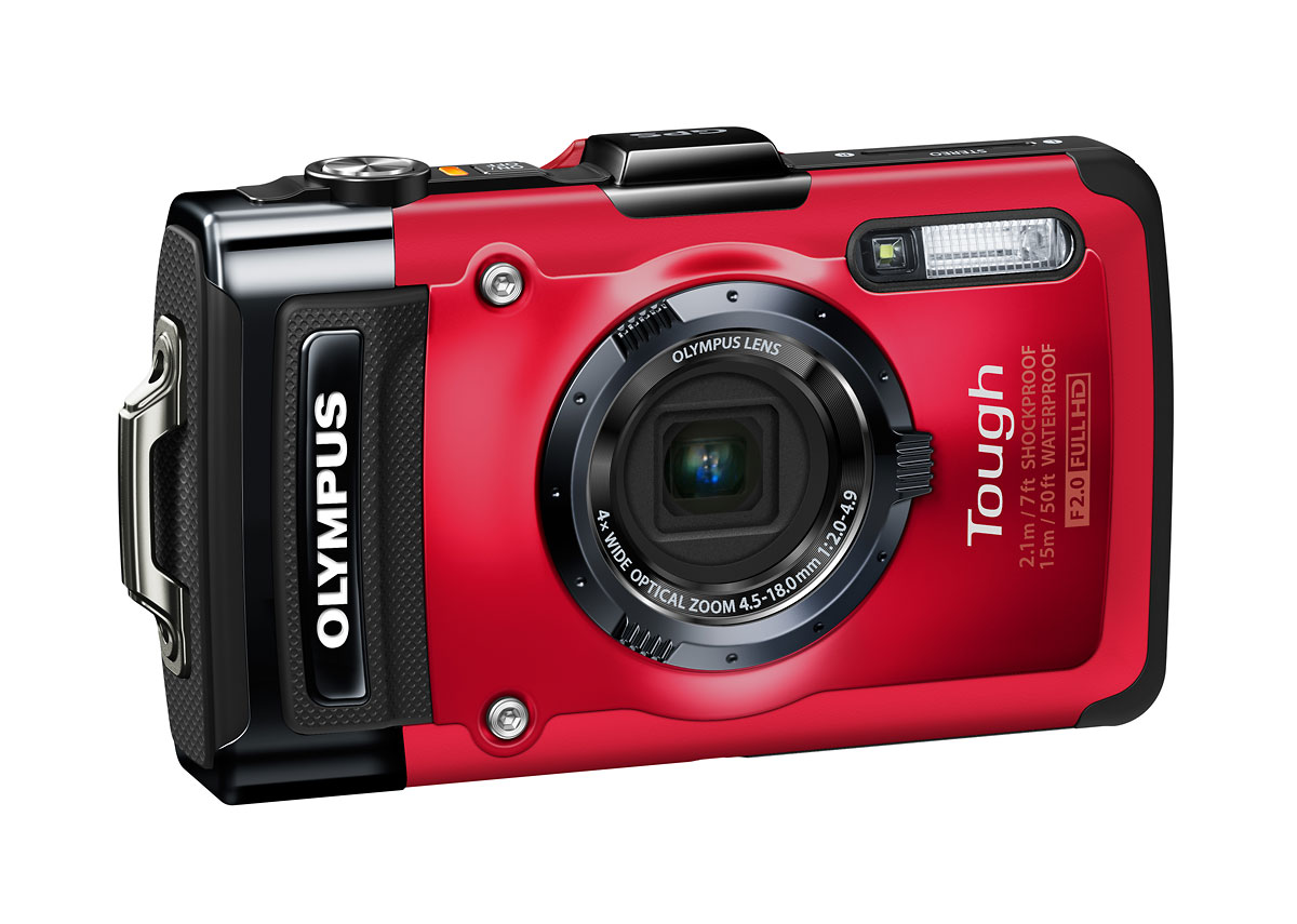 Olympus Stylus Tough TG-2 iHS - Right Front - Red