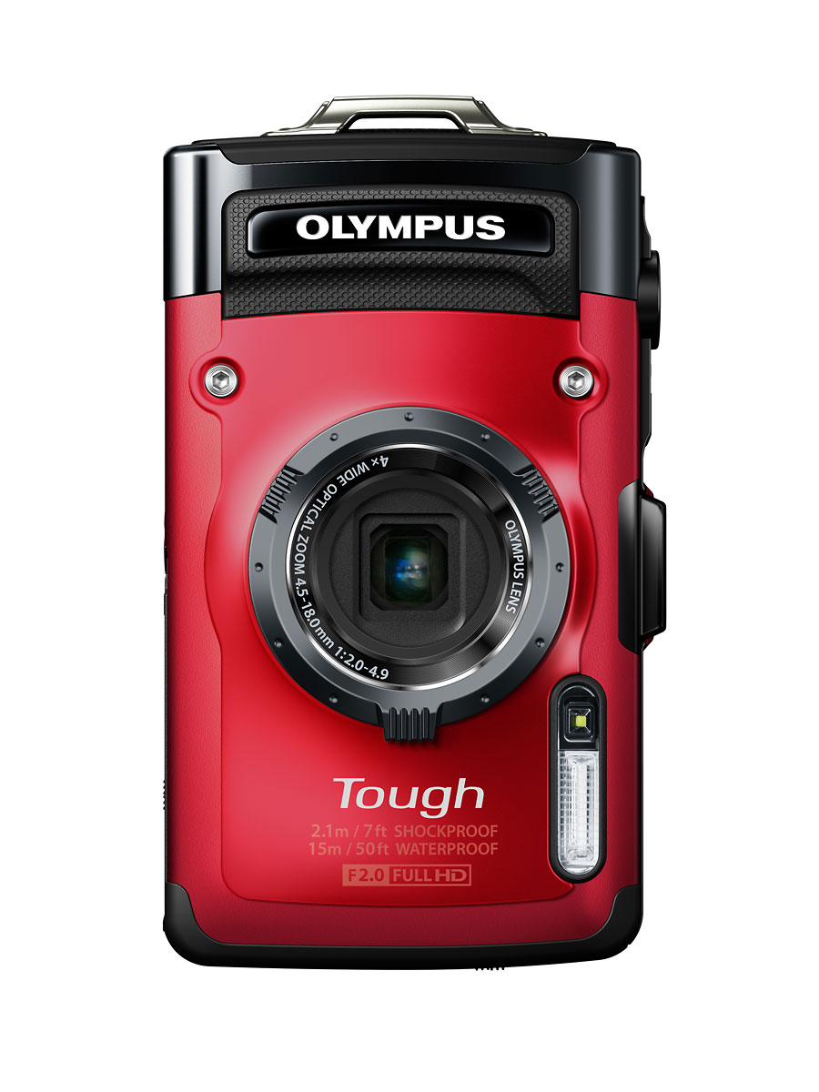 Olympus Stylus Tough TG-2 iHS - Red - Vertical
