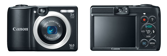 Canon PowerShot A1400 Compact Camera With Optical Viewfinder