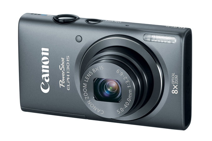 Canon PowerShot ELPH 130 IS - Gray - Back