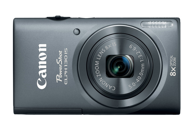 Canon PowerShot ELPH 130 IS - Gray - Front