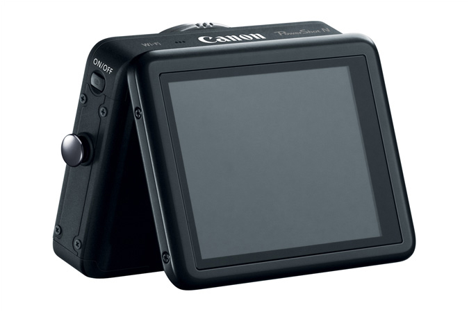 Canon PowerShot N - Black - Tilting Touch Screen LCD