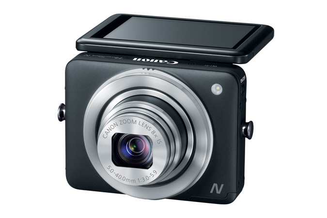 Canon PowerShot N - Black - With Tilting Touch Screen Display