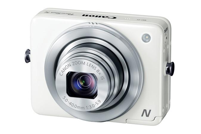 Canon PowerShot N - White - Angle