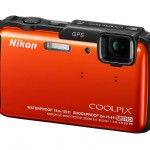 Nikon Coolpix AW110 Rugged Point-and-Shoot - Left - Orange