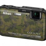 Nikon Coolpix AW110 Rugged Point-and-Shoot - Left - Camo Finish