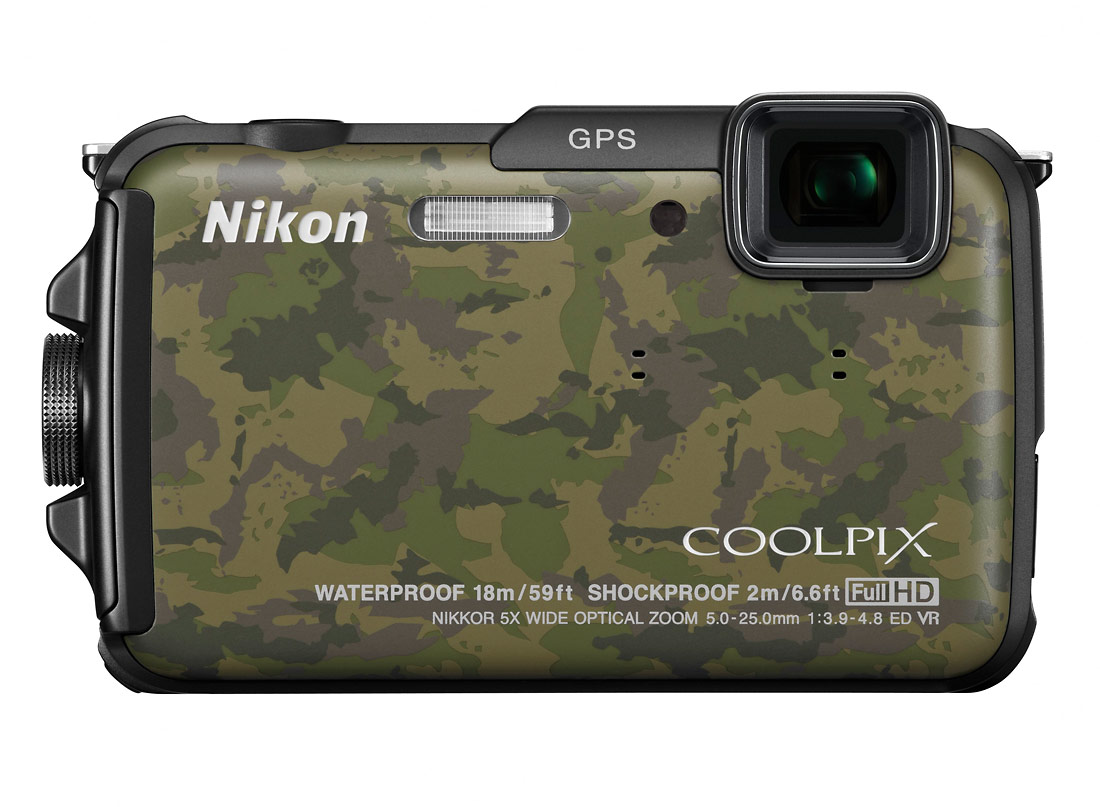 Nikon Coolpix AW110 Rugged Waterproof Camera - Camo Finish