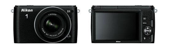 Nikon 1 S1 Mirrorless Camera - Front & Back