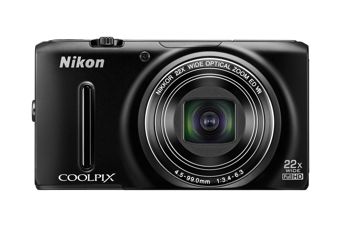 Nikon Coolpix S9500 Pocket Superzoom Camera - Black