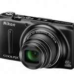 Nikon Coolpix S9500 Pocket Superzoom - Left Angle View - Black