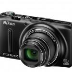 Nikon Coolpix S9500 Pocket Superzoom - Left Angle View - Black