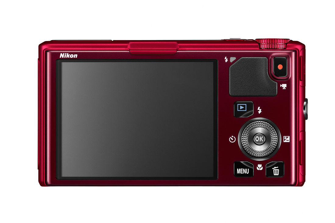 Nikon Coolpix S9500 - Rear OLED Display - Red