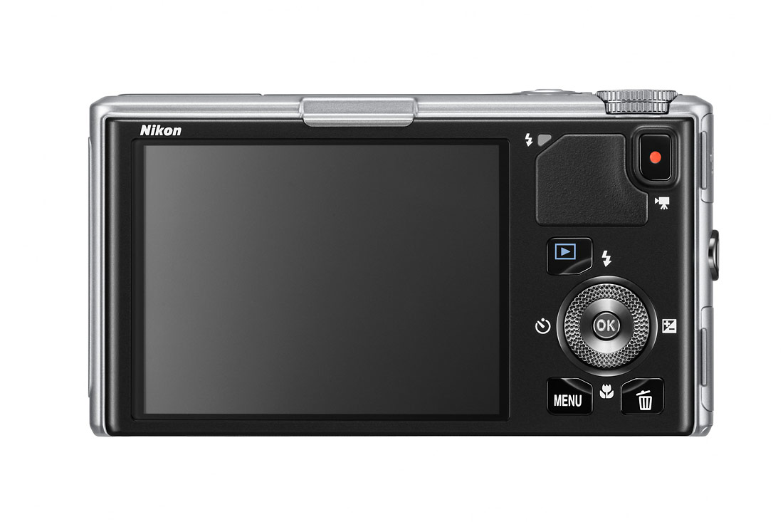Nikon Coolpix S9500 - Rear OLED Display - Silver