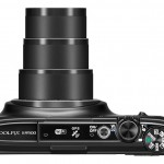Nikon Coolpix S9500 - Top View With 22x Zoom Lens - Black