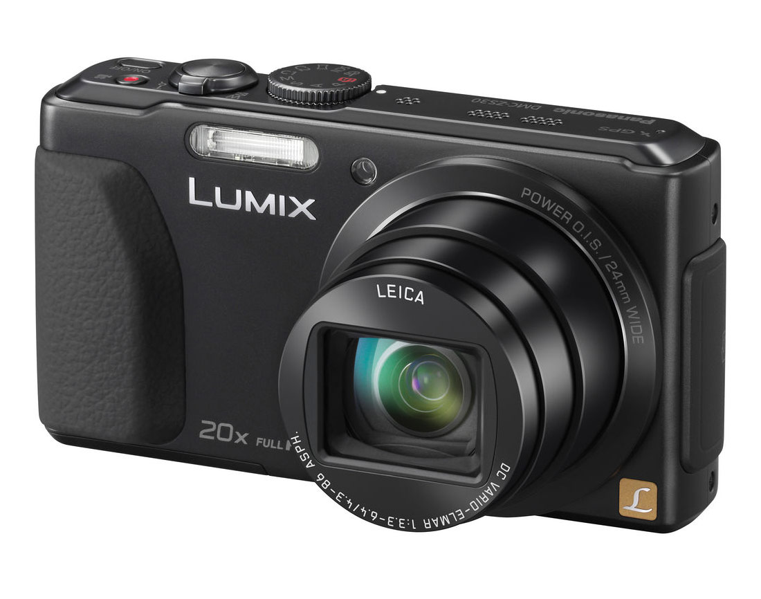 Panasonic Lumix ZS30 Pocket Superzoom With 20x Leica Zoom Lens - Black