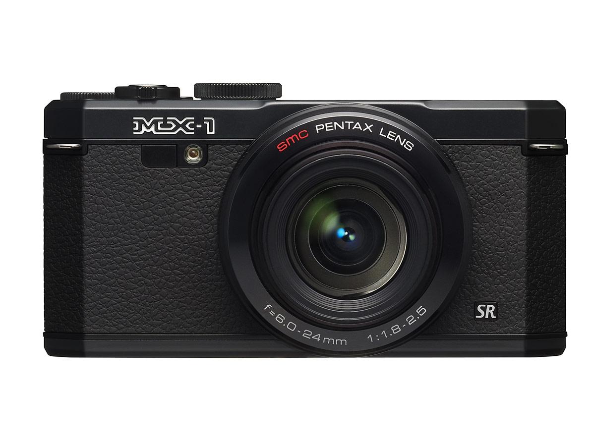 Pentax MX-1 - Front - Black