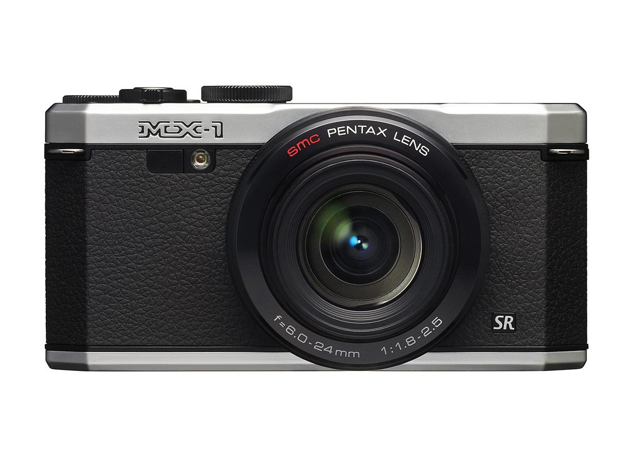 Pentax MX-1 - Front - Sliver