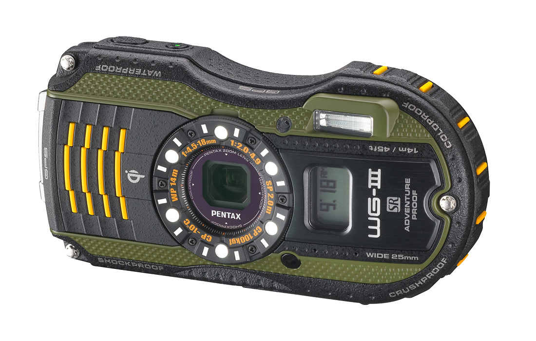 Pentax WG-3 GPS Rugged Waterproof Camera - Green