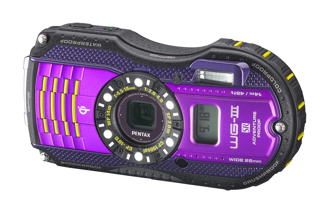 Pentax WG-3 GPS Rugged Waterproof Camera - Purple