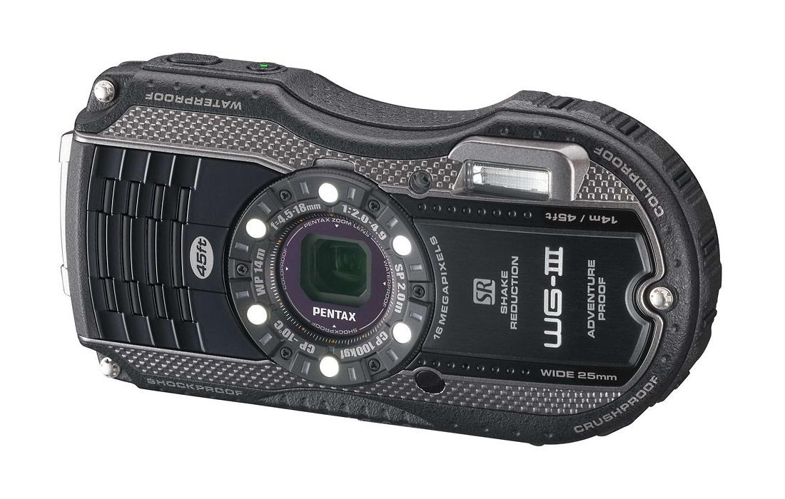 Pentax WG-3 Rugged Waterproof Camera - Black