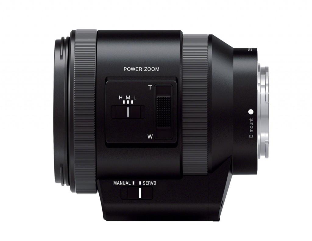 Sony 18-200mm f/3.5-6.3 OSS E-mount Power Zoom Lens - Side