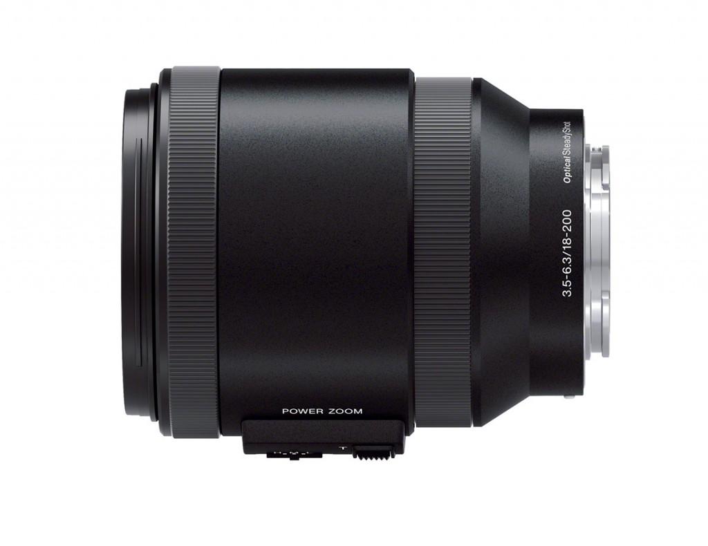 Sony 18-200mm f/3.5-6.3 OSS E-mount Power Zoom Lens - Top