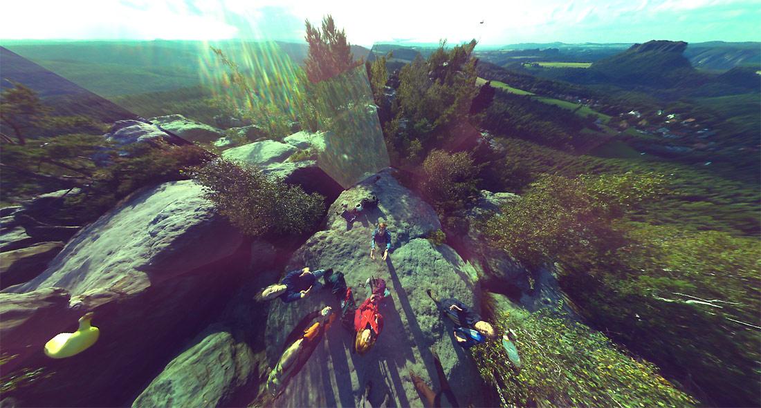 Ball Camera Panoramic Photo Sample - Rocks