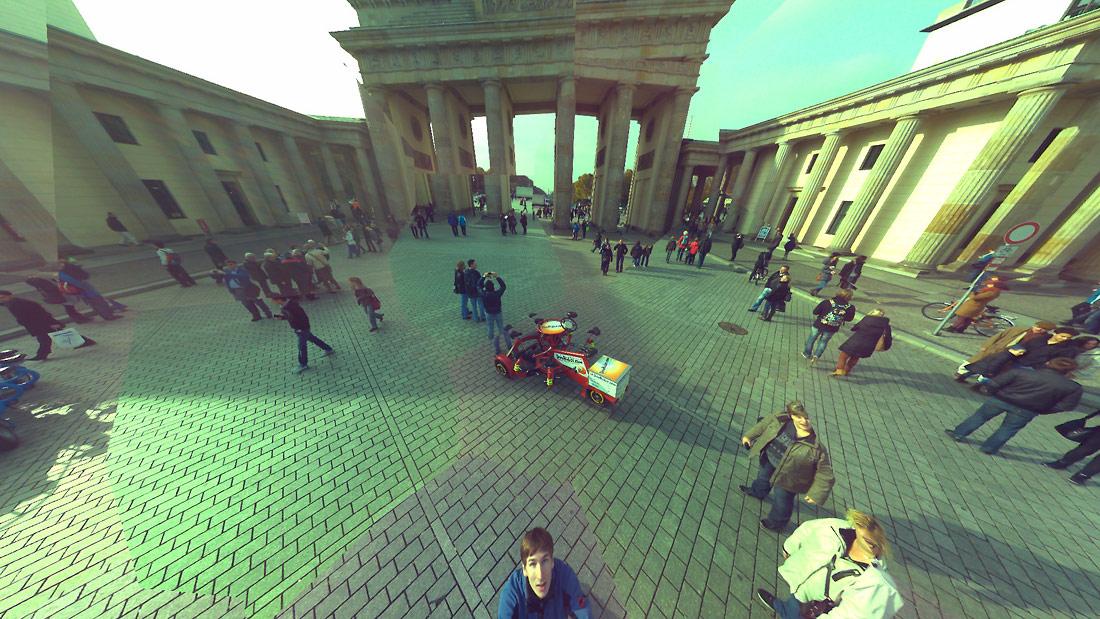 Brandenburg Gate, Berlin - Ball Camera Panoramic Photo Sample