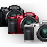 Fujifilm FinePix S6800 Superzoom Camera - Red, Black, White