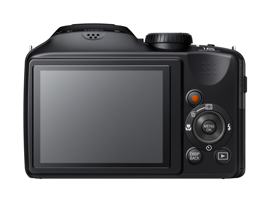 Fujifilm FinePix S6800 Superzoom Camera - Rear View