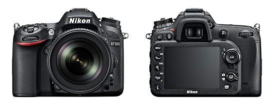 Nikon D7100 24-Megapixel DX-Format Digital SLR - Front & Back