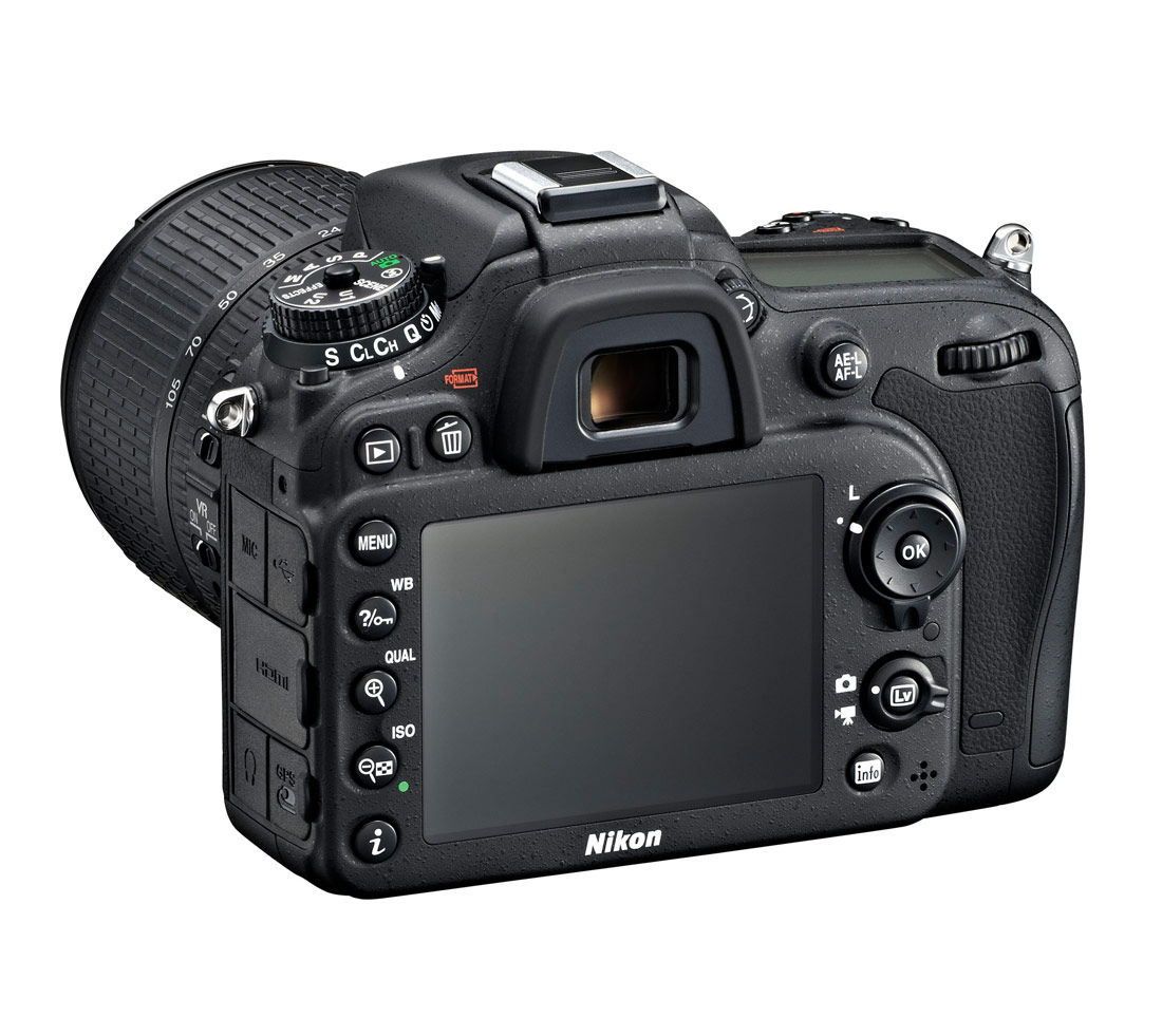 Nikon D7100 DSLR - Left Rear View