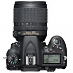 Nikon D7100 - Top View With 18-105mm Zoom Lens