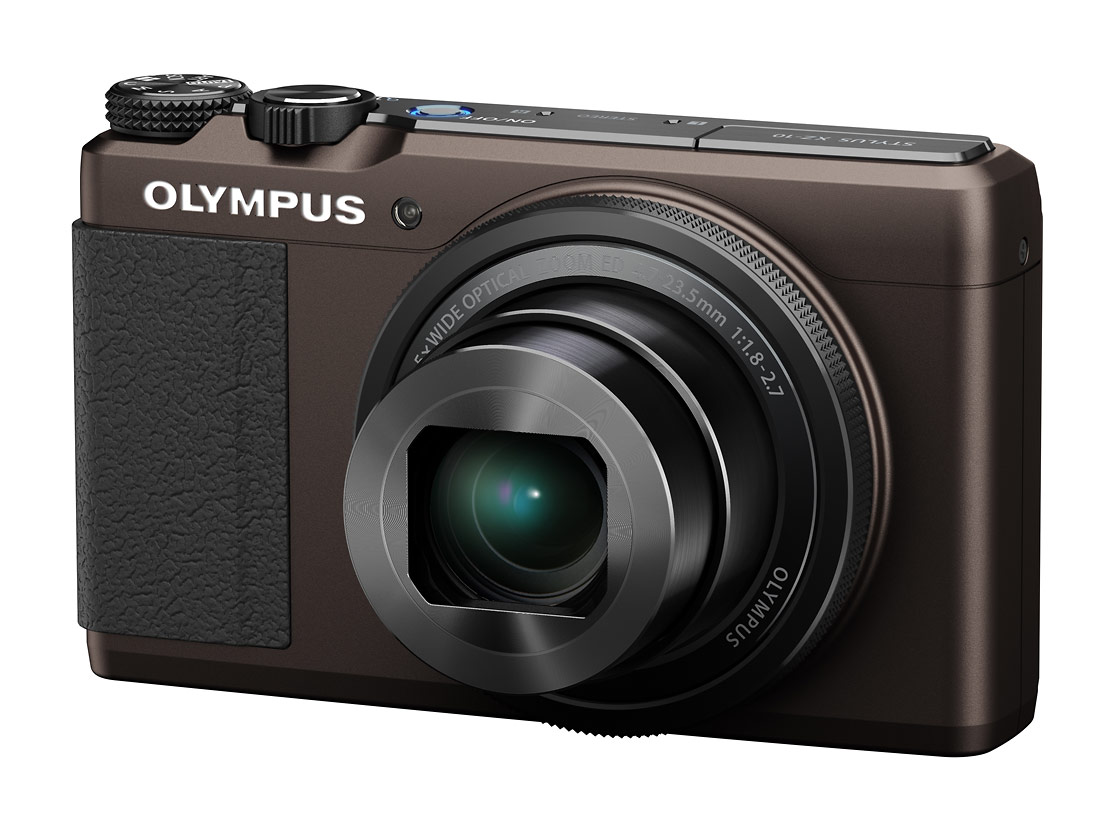 Olympus Stylus XZ-10 High-End Pocket Camera - Brown