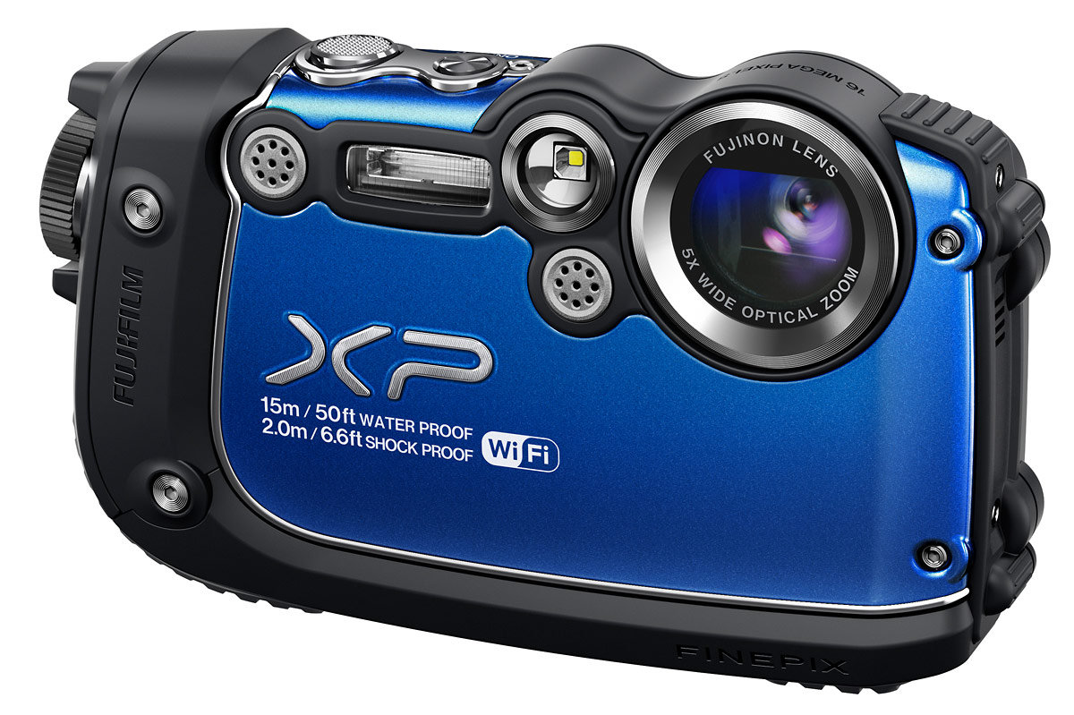 Fujifilm FinePix XP200 Waterproof Camera With Wi-Fi - Blue