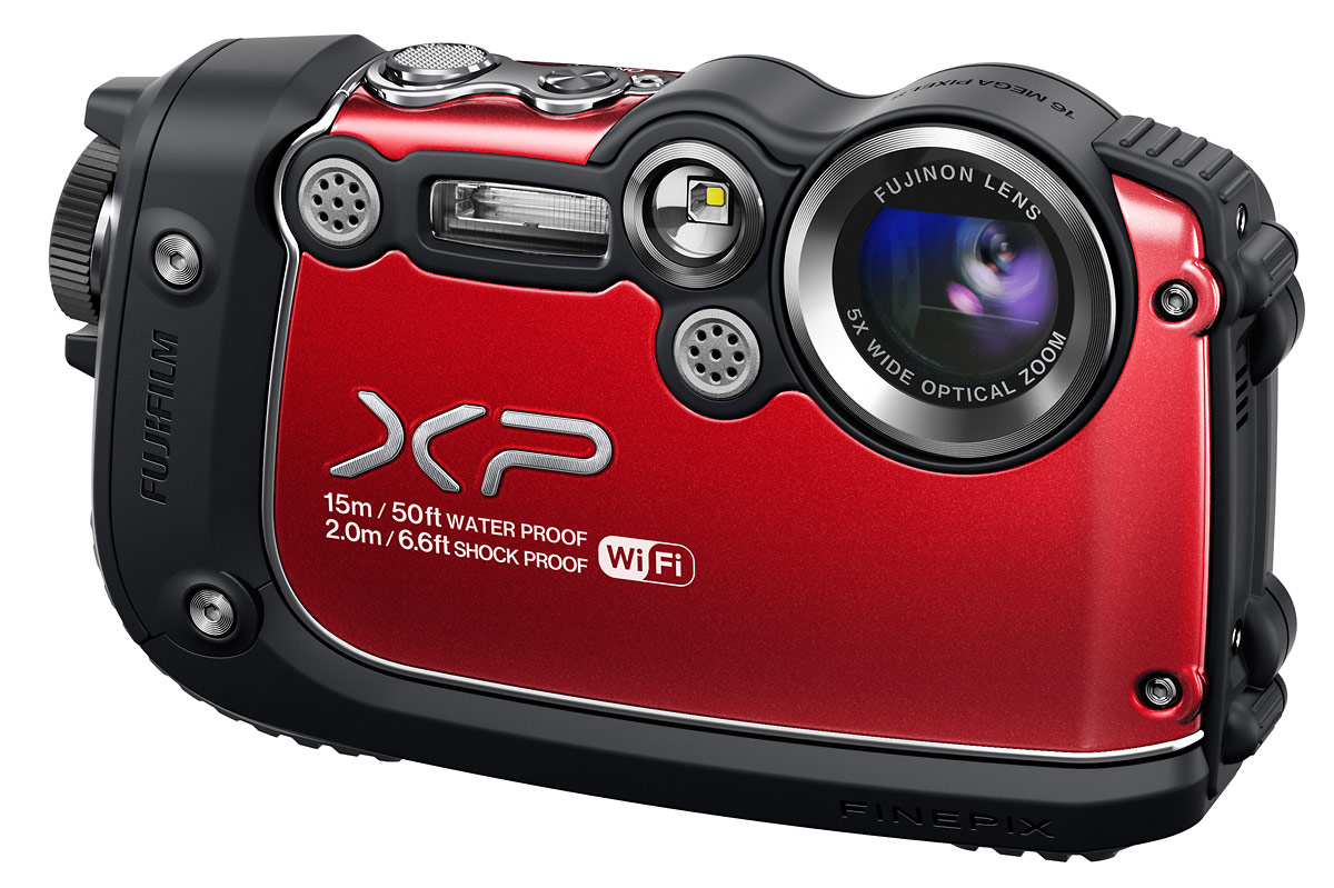 Fujifilm FinePix XP200 Waterproof Point-and-Shoot With Wi-Fi - Red