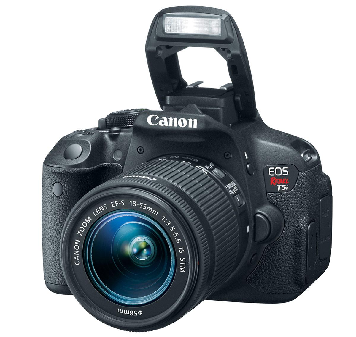 Canon EOS Rebel T5i DSLR - Pop-Up Flash